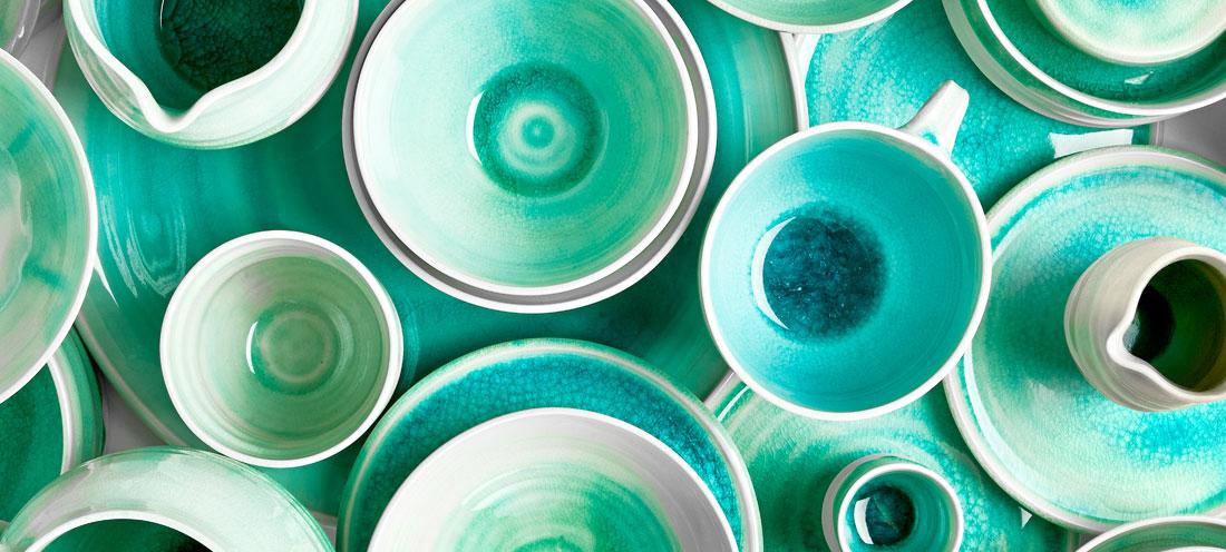 Handgemachtes Porzellan Geschirr – Kollektion von Max Lamb  ~ Geschirr Modern
