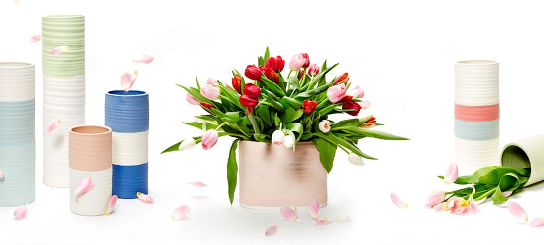 Porzellan Vasen und Dosen